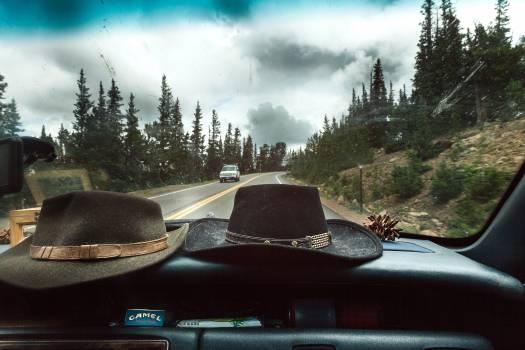 cowboy hat dashboard car  Free Photo