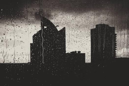 raining rain drops window  Free Photo