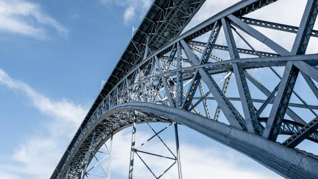 Steel arch bridge Bridge Structure Free Photo
