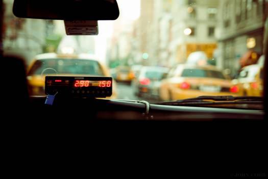 taxi meter fare  Free Photo