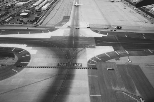 airport runway tarmac  Free Photo