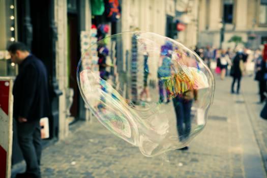 bubble soap street  Free Photo