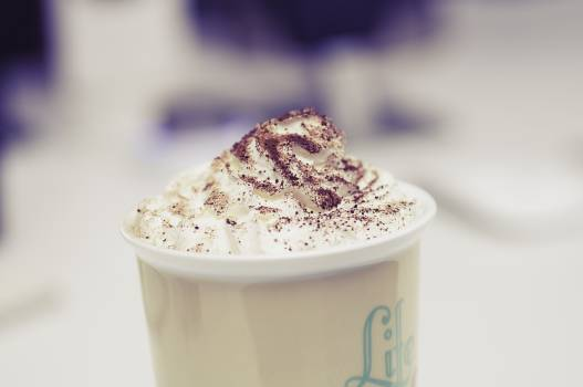 coffee whipped cream foam  Free Photo