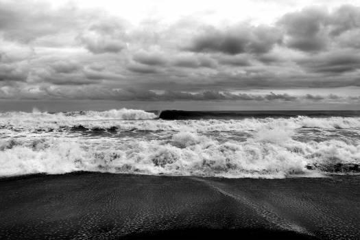 waves shore ocean  Free Photo