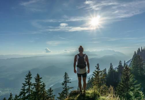 girl woman hiking  Free Photo