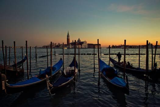 Venice gondolas boats  #19399