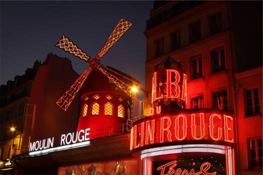 Moulin Rouge cabaret Paris  Free Photo