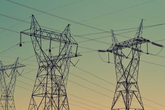 power lines sky  #19439