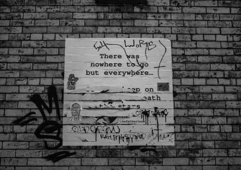 poster bricks wall  Free Photo