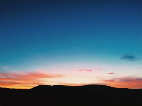 sunset sky silhouette  #19497