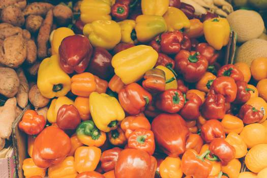 peppers vegetables red  #19510