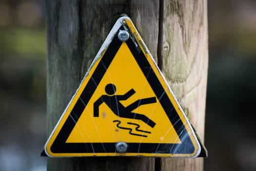 slippery when wet sign hazard  #19522
