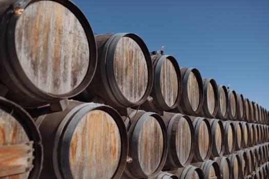 wood barrels  #19562
