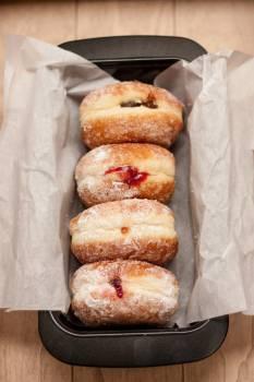 donuts jelly baking  Free Photo