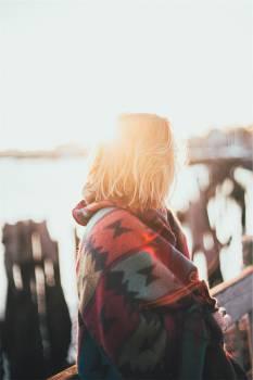 girl woman sunshine  Free Photo