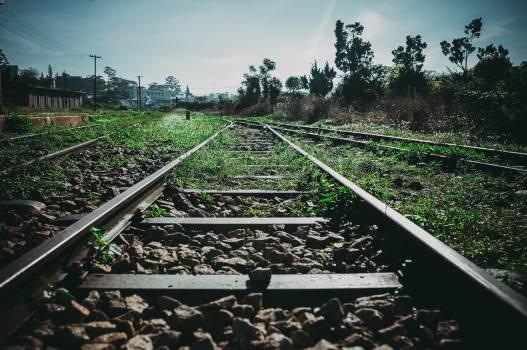 train tracks railroad railway  #19605