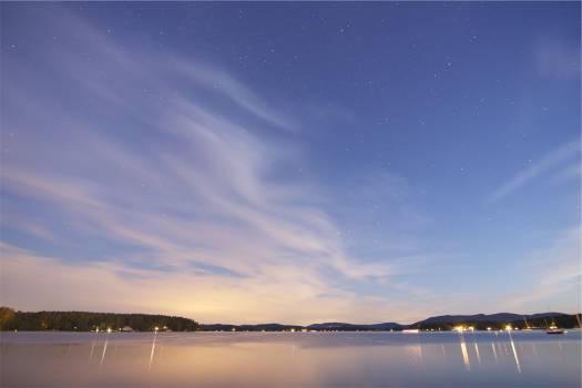 dusk sky clouds  Free Photo