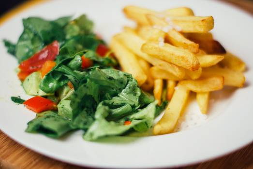 food salad french fries  #19661