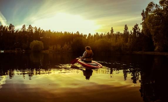 Canoe Boat Snowmobile Free Photo