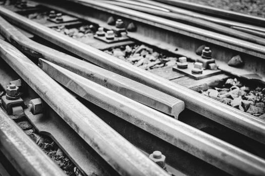 train tracks railroad railway  #19708