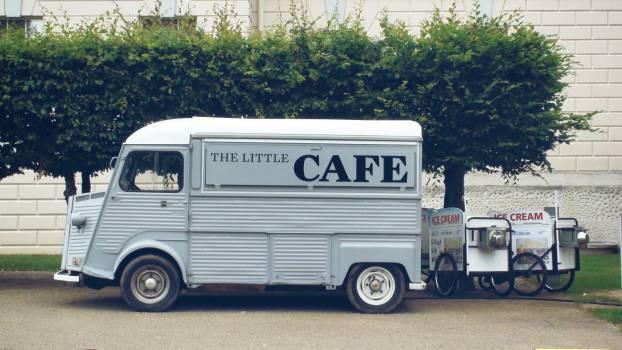truck cafe ice cream  Free Photo