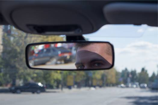 rearview mirror windshield car  Free Photo