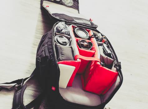 backpack gear equipment  Free Photo
