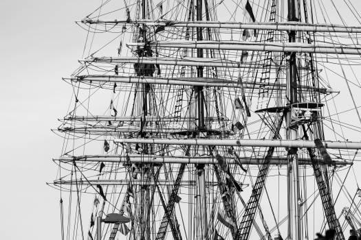 sailboat sails ropes  Free Photo