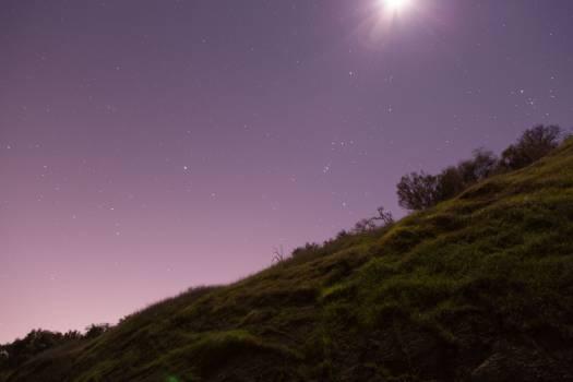 purple sky stars  #19839