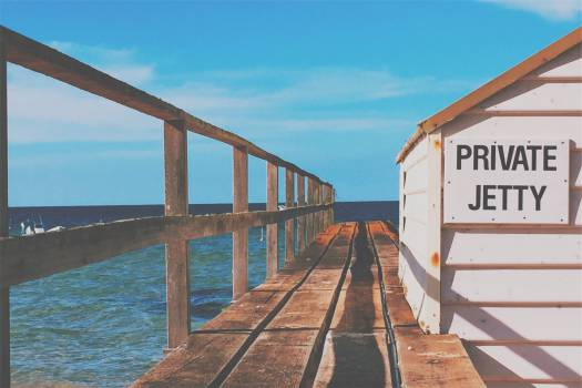 pier ocean sea  Free Photo