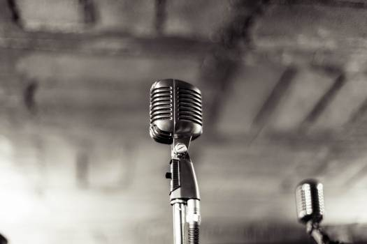 microphone stand recording  Free Photo
