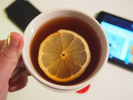 lemon tea cup  Free Photo