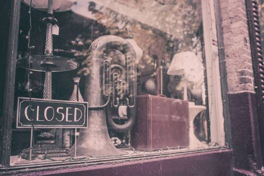closed store shop  Free Photo