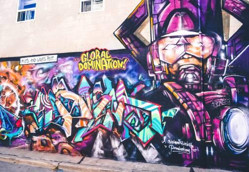 Graffito Decoration Comic book Free Photo