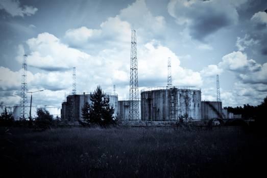 industrial oil terminal silos  #19925
