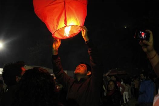 fire lantern dark  #19976
