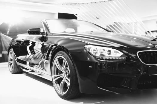 black BMW car  Free Photo