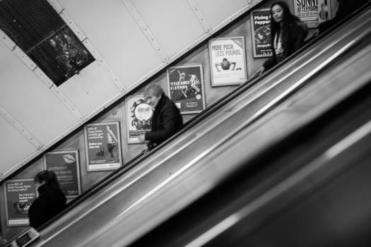 escalator people subway  #20015