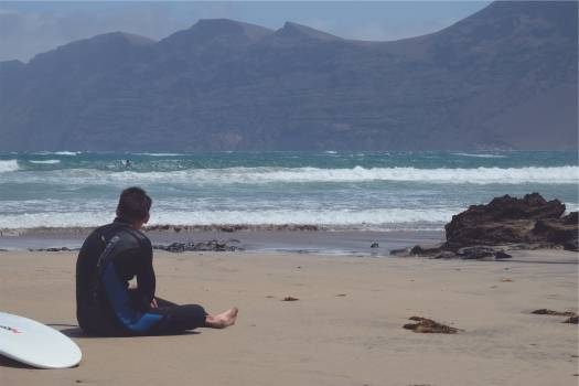 surfer beach sand  #20017