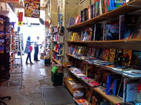 comic books store shelves  Free Photo