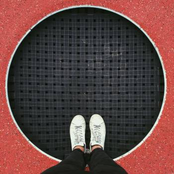 Manhole cover Covering Top Free Photo