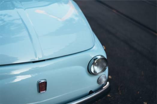 fiat 500 blue  #20045