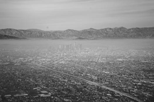 city aerial view  Free Photo