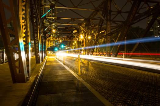 City Transportation Night Free Photo