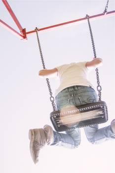 swing fun jeans  Free Photo