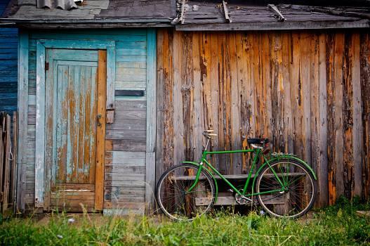 green bike wood shed  #20094