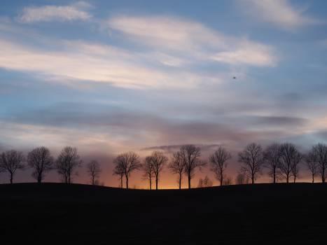 landscape sunset dusk  Free Photo
