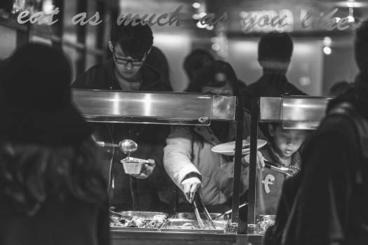 Chinese buffet food  Free Photo