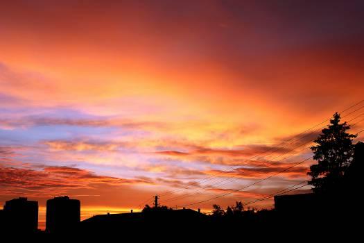 sunset dusk silhouette  #20140