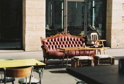 leather couch table  #20187